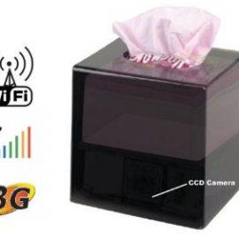 Wi-Fi IP Covert Tissue Box DVR Camera