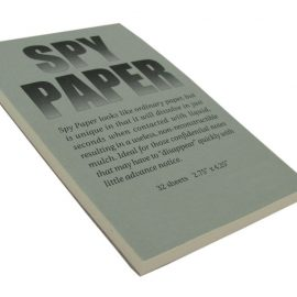 Disappearing Spy Paper for Your Secret Notes