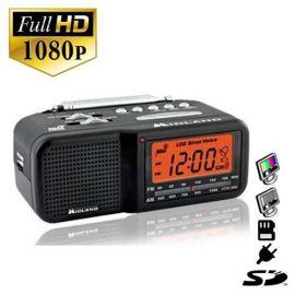 SecureShot HD Radio Clock w/ Hidden Camera