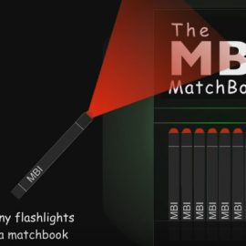 MBI Matchbook with Match-size Flashlights