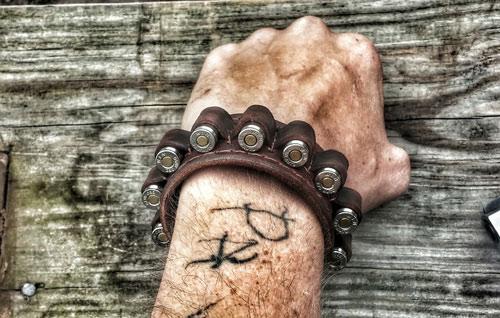 Six-Shooter-Leather-Bracelet