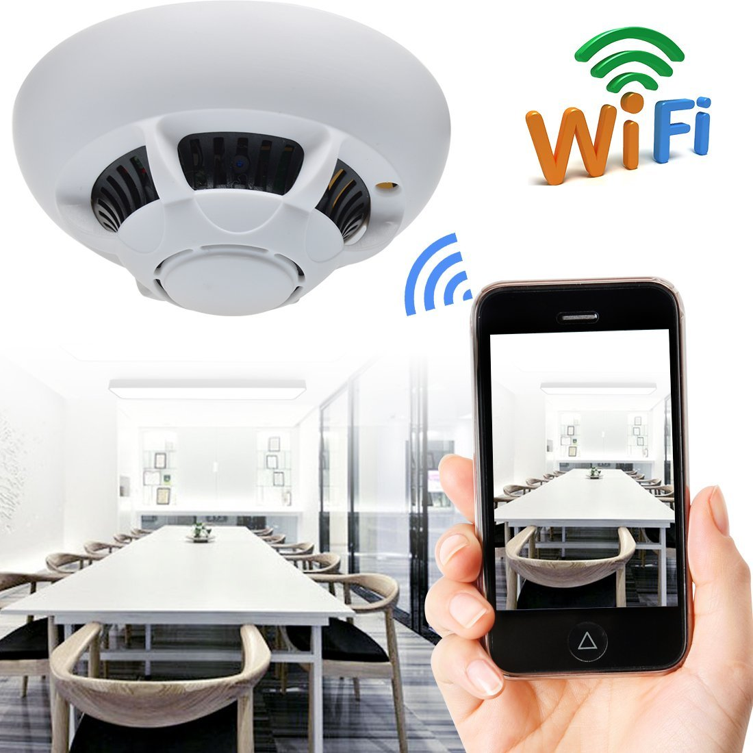 Spy IP Camera Smoke Detector