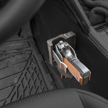 By My Side Holster Vehicle Under Desk Weapon Mount Spy