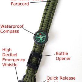 Off-Grid Survival Paracord Bracelet
