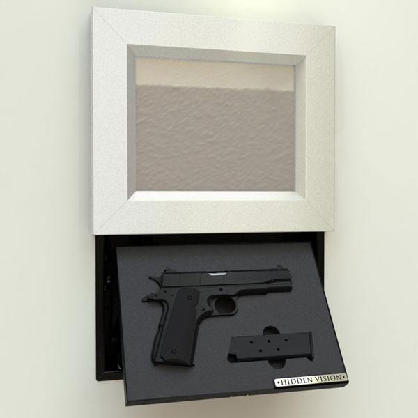 Wall-Mount Concealment Frame for Your Gun - Spy Goodies