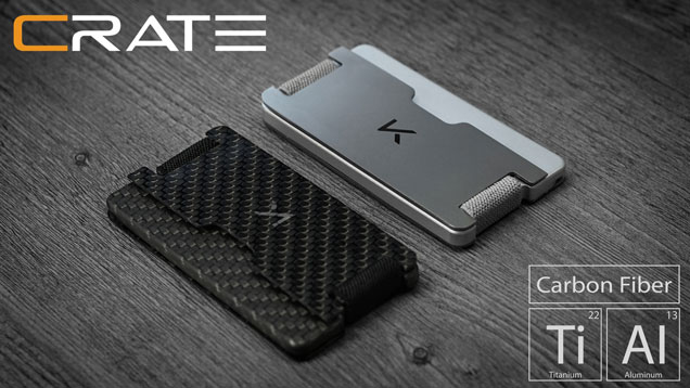 Crate Carbon Fiber Wallet With Rfid Blocking Spy Goodies