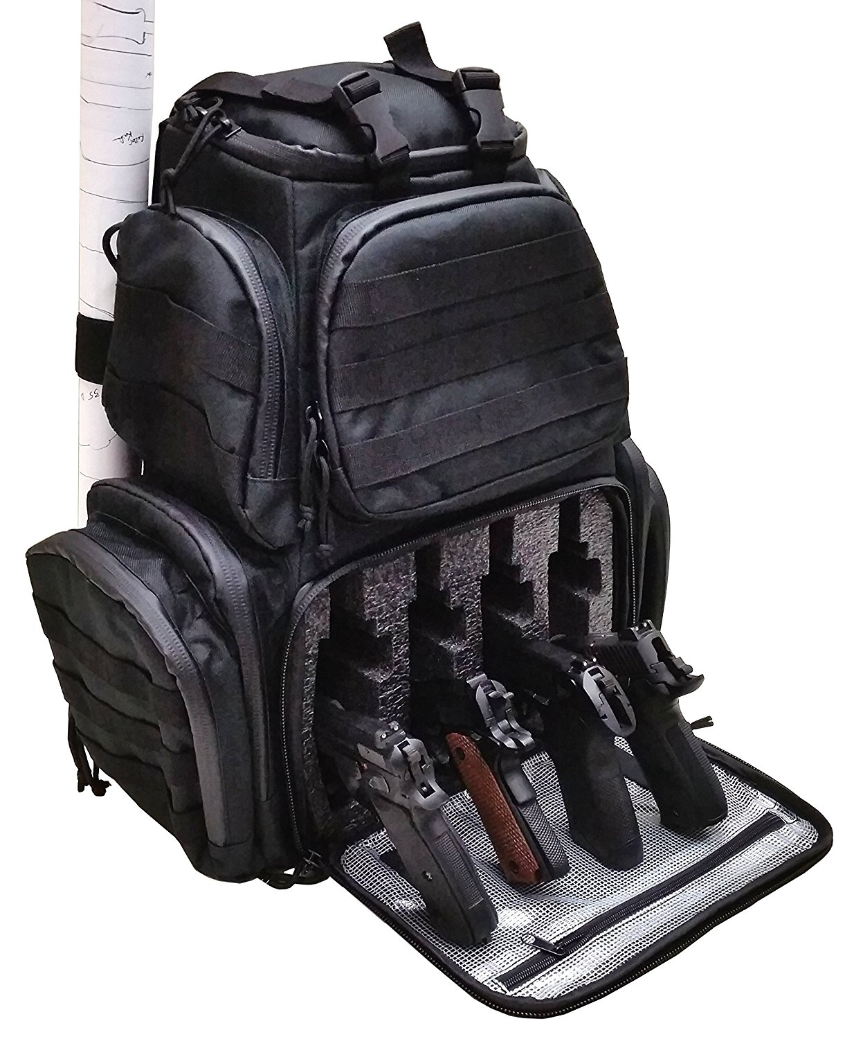 Case Club Tactical 4 Pistol Backpack Spy Goodies