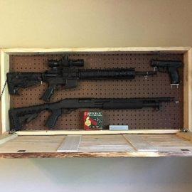 Wooden Hidden Gun Cabinet