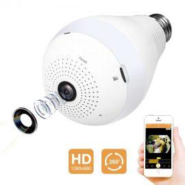 Tooge 360-Degree WiFi Bulb Camera