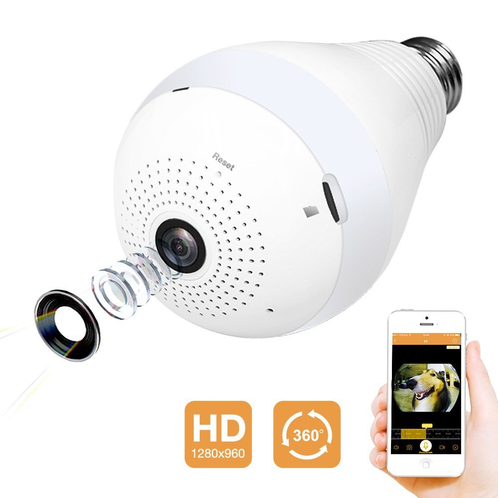 Tooge 360 Degree Wifi Bulb Camera Spy Goodies