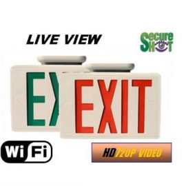 SecureShot HD Live View Exit Sign Spy Camera