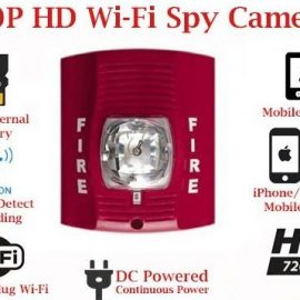 SecureGuard 720p Fire Alarm Strobe Light Hidden Camera