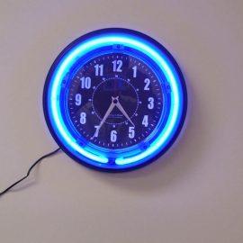 SecureGuard Neon Wall Clock Spy Camera