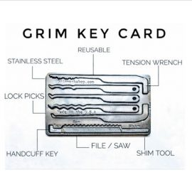 Grim Key Card: Credit Card Sized Lock Pick & Escape System