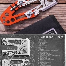 KIT Credit Card 60-in-1 Multitool + Handle