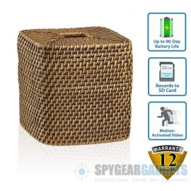 Motion Activated Wicker Tissue Box