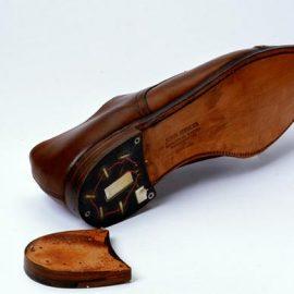 Shoe with Heel Transmitter