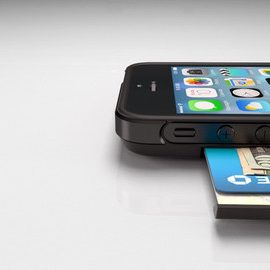 Push Case Hidden Wallet for iPhone