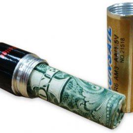 AA Battery Money Stash