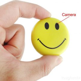 8GB Smiley Face Badge w/ Hidden Camera