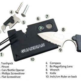 Pocket Knife Credit Card Survival Tool [10 Tools]