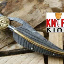 Knife King Custom Damascus Handmade Folding Knife