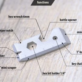 Pinch: Titanium Multi-Tool w/ 11 Functions