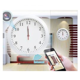 WiFi IP Wall Clock Records Video In 720P Format