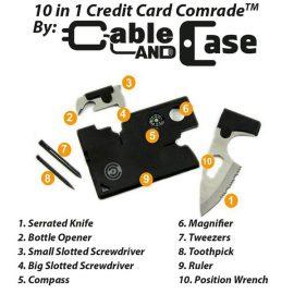 C&C Credit Card Comrade: 10-in-1 Multitool