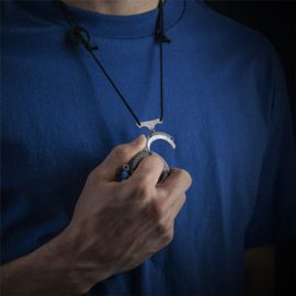 Vicious Circle: Disc Pendant with Knife