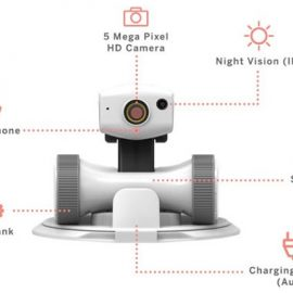 Riley Home Security Robot with Night Vision