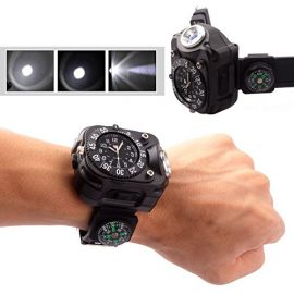 Survival Compass Watch with Flashlight