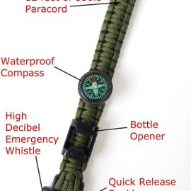Off-Grid Survival Paracord Bracelet