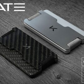 CRATE: Carbon Fiber Wallet with RFID Blocking