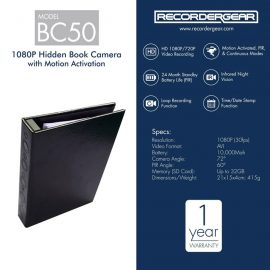 RecorderGear BC50 1080p Hidden Camera Book