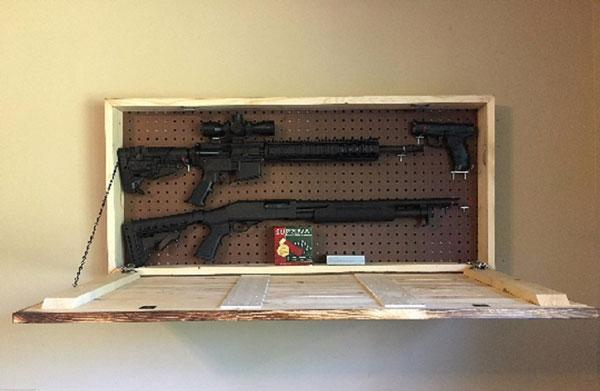 wooden hidden gun cabinet spy goodies