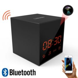 LIZVIE Spy Cube Clock with Bluetooth Speaker