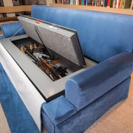 CouchBunker: Fire-rated Gun Safe with Bulletproof Pillows