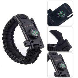 RnS STAR Paracord Survival Bracelet for Hiking