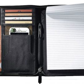 Bullet Blocker Leather Writing Padfolio