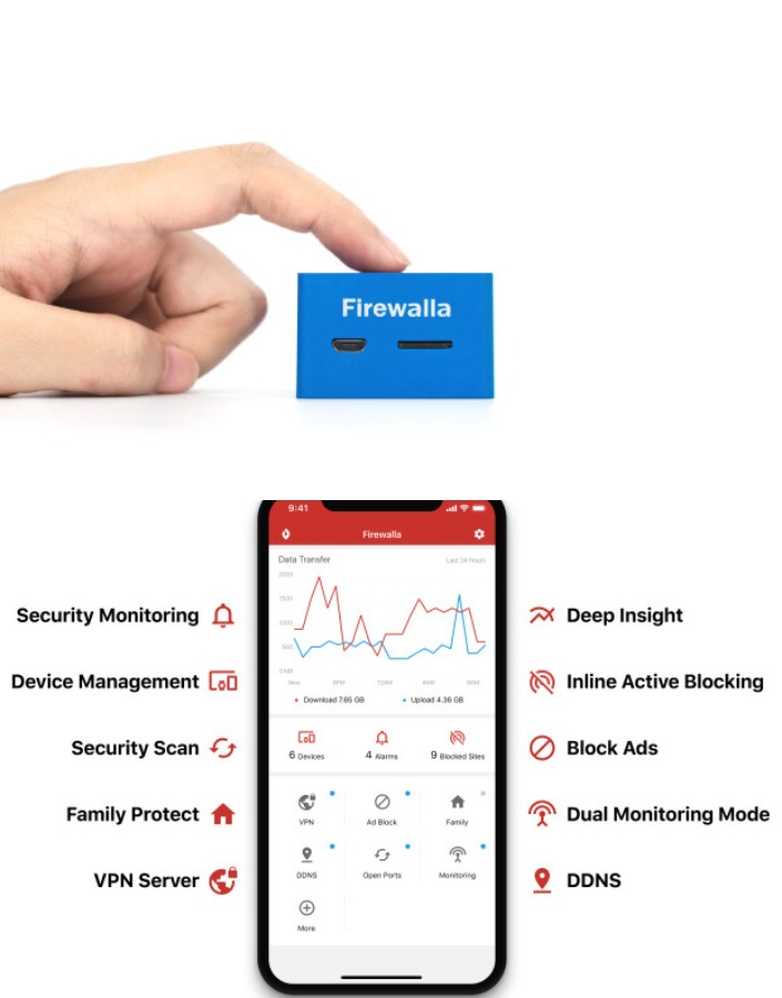 Firewalla Blue: Smart Firewall for Your Connected Home – Spy