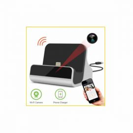 Smartphone Charging Dock with Covert WiFi Camera