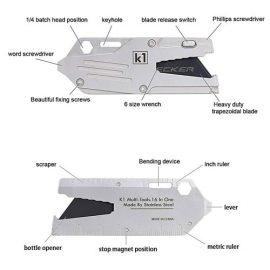 K1 16-in-1 Credit Card Multitool