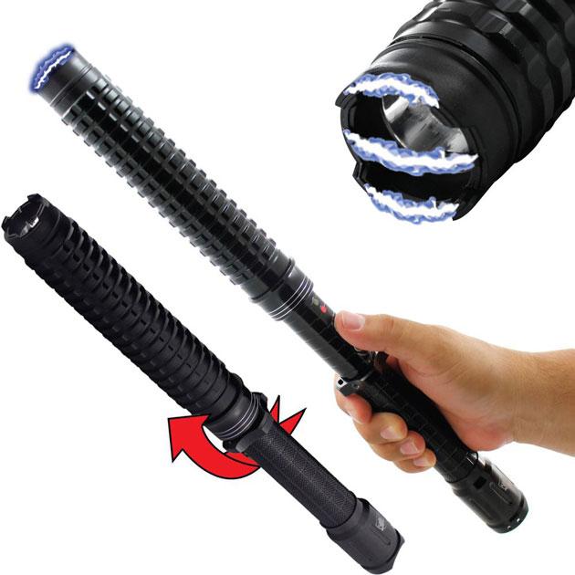 Streetwise Expandable LED Stun Gun Baton – Spy Goodies
