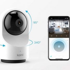 Kami Security Camera with Motion Tracking & AI