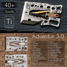 Adventur 3.0 Survival Credit Card Axe Multitool [40+ in 1]