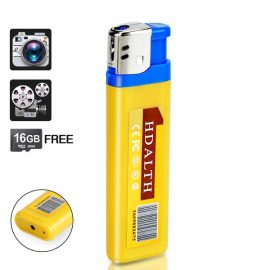 Hidden Camera Lighter with Sound Activated Recording