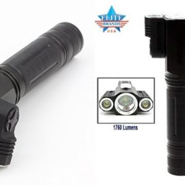 Elite Tactical Flashlight with Two Rotatable Heads