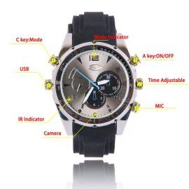 Wristwatch with 1080p Spy Camera