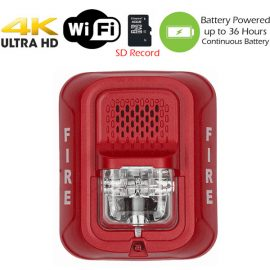 4K Fire Alarm Strobe Spy Camera
